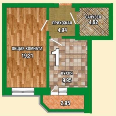 Продам однокомнатную квартиру в сданном доме, отличная пл...